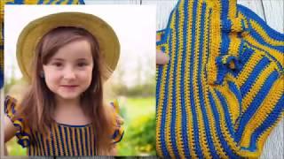 Детское платье-сарафан крючком