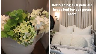 Redesigning my guest room with a makeover on my 60 year old brass bed