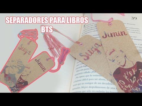 [DIY K-POP]:Separadores de libros BTS / BTS Bookmarks