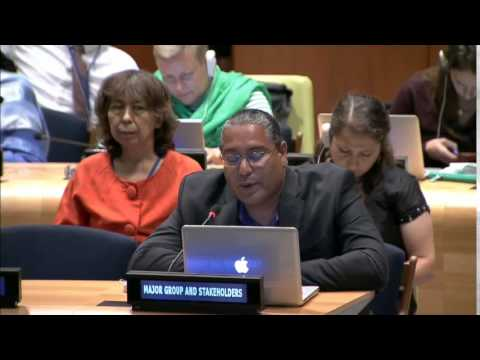 Mr. Roberto Borrero - International Indian Treaty Council - June UN Post-2015 negotiations