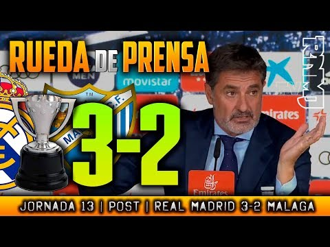 Real Madrid 3-2 Málaga Rueda de prensa de Michel (25/11/2017) | POST LIGA JORNADA 13