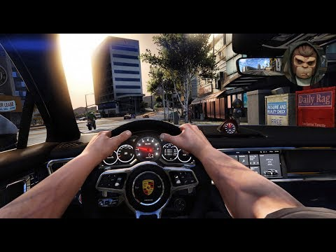 ► GTA 6 Graphics - First Person Driving! ✪ M.V.G.A. Porsche Panamera Turbo Gameplay!  2017 60 FPS