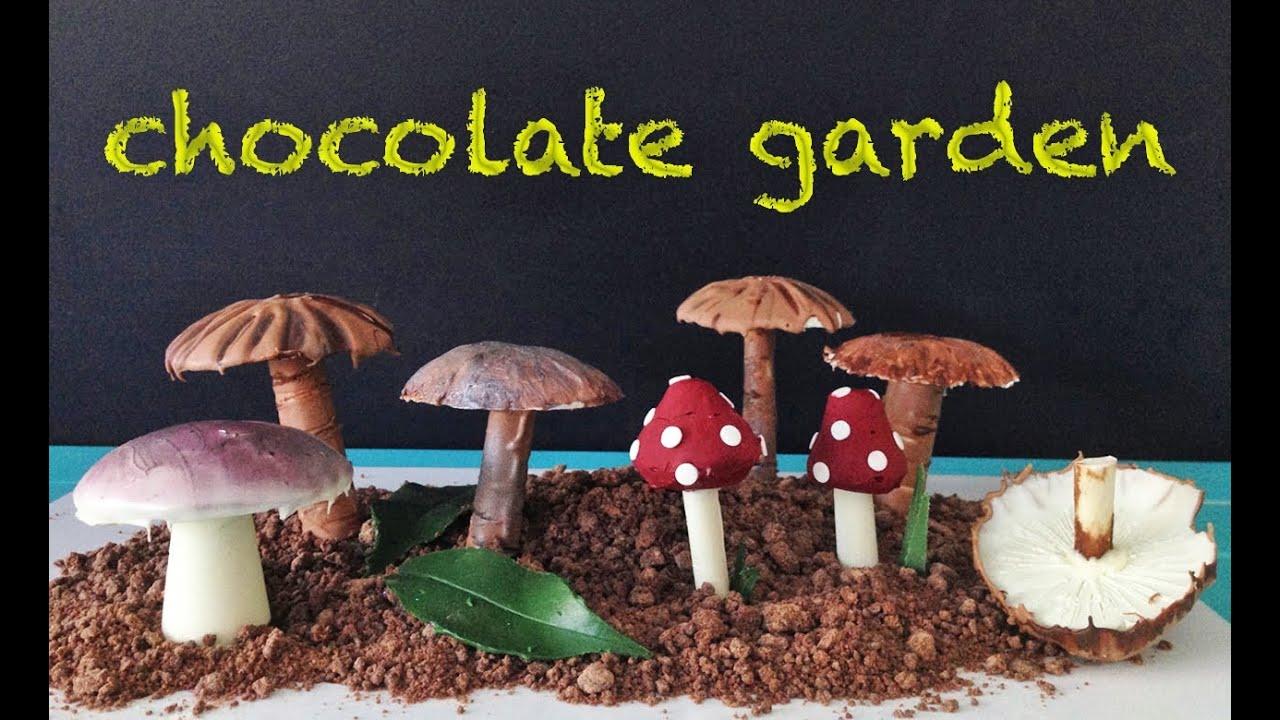 chocolate garden how to cook that garnish decoration dessert recipe ann reardon - Chocolate Garden