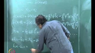 Mod-01 Lec-07 Representing Derivatives - finite differences