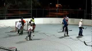 Ref Fights Player Roller Hockey.