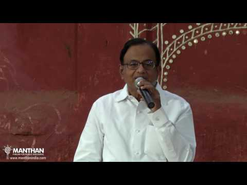 P Chidambaram at Manthan (#186) on 'Standing Guard - One Year in Opposition'