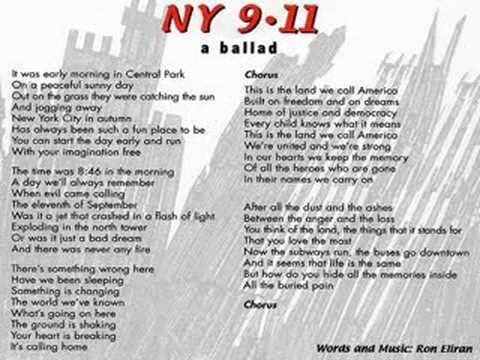 ny 9 11 a ballad by ron ran eliran youtube