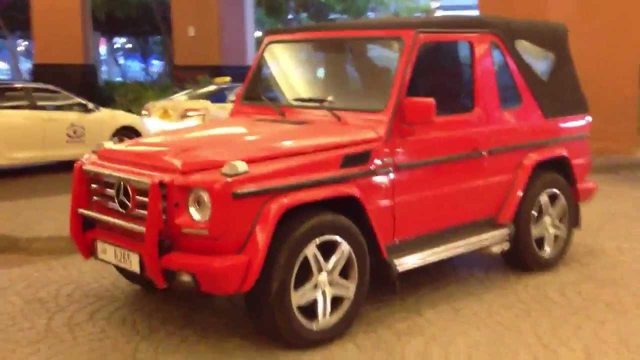 red 2-door G500 Convertible Mercedes-Benz - YouTube