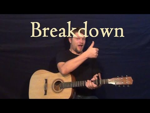 Breakdown Tom Petty Easy Guitar Strum Chords Lesson How To Play