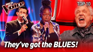 The best BLUES Blind Auditions to warm your SOUL on The Voice | Top 10