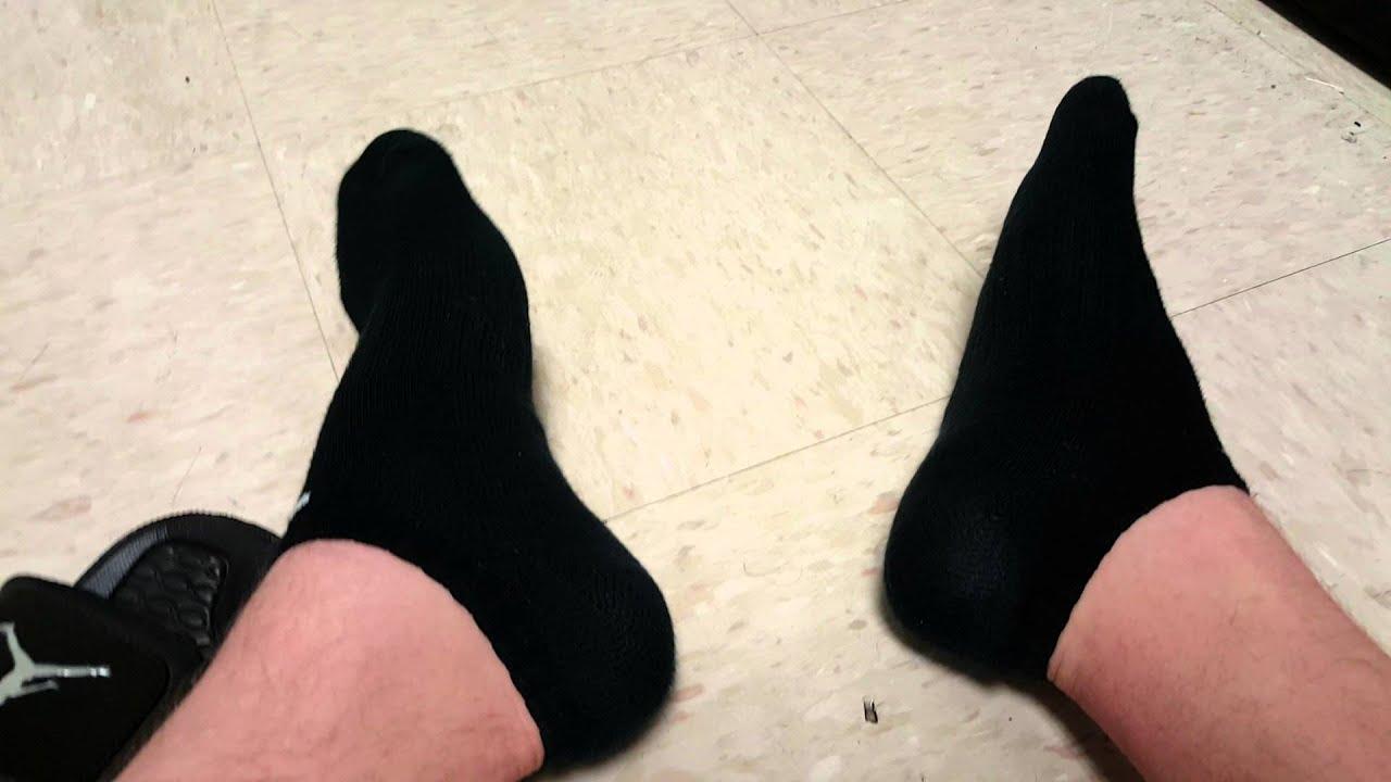 57b7f299c129 Jordan Slides and Nike No Show Socks - YouTube