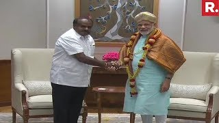 CM HD Kumaraswamy Meets PM Narendra Modi In Delhi