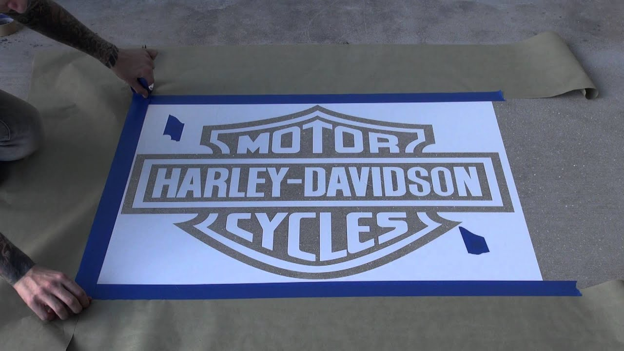 harley stencil part 2draygon - youtube