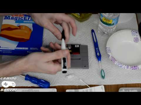 How I Clean SNES Game Cartridges