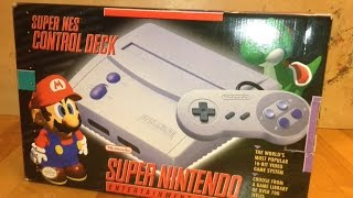 Unboxing of a Brand New Super Nintendo Entertainment System (SNES) Model SNS-101!