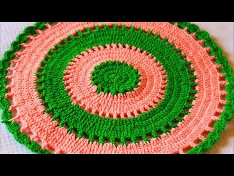 How to Crochet a Round Rug-Crochet Doily Placemat-Crochet Table Placemat