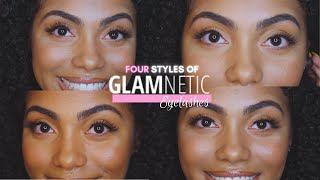 Trying on FOUR Natural Styles of Glamnetic Eyelashes