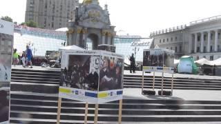 УКРАИНА, Киев: Выставка Фото  ''Женщины Майдана''   На Майдане Незалежности 22.05.2014