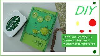 Vatertagskarte selber basteln mit Stempel & Memento-Marker cardmaking [deutsch]