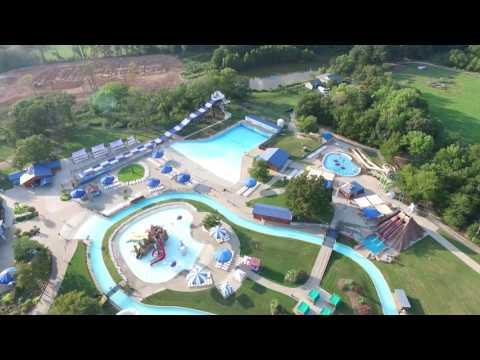 Splash Kingdom Waterpark canton TX from drone HD