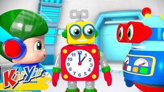 Telling Time Song   Kids Learning   ABCs and 123s   KiiYii   Nursery Rhymes & Kids Songs