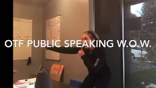 OTF Hannah Public Speaking W1W Before After