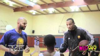Common and Monta Ellis visit youth at Oakland