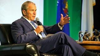 Former President Bush George W. Bush speaks at Wisconsin Lutheran College