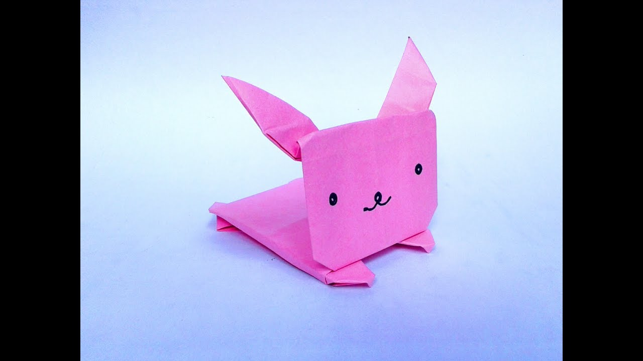 Origami Jumping Bunny How To Make Paper The Easy Step Video
