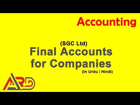 O Level - Company Accounts - SGC Ltd