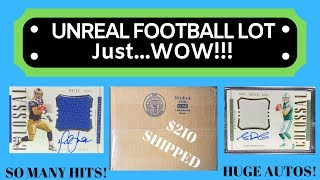 $210 For This INSANE Football Lot! AMAZING CARDS!!!