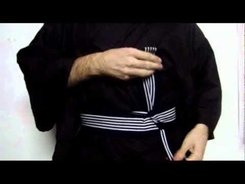 ed1312e8adbf Noeud de obi Kai no kuchi - YouTube