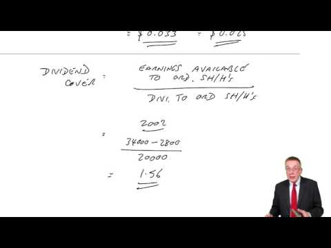 ACCA F9 Capital Structure and Financial Ratios – Other financial ratios
