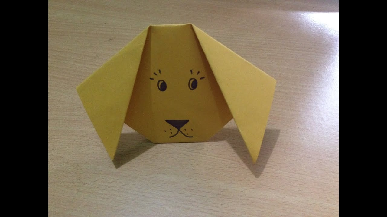 Origami dog face how to origami - Origami Dog Face How To Origami 3