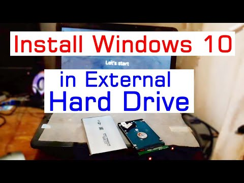 How To Install Windows 10 In External Hard Drive Or USB Drives