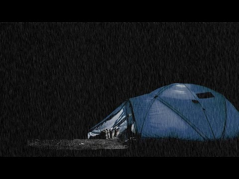 Rainfall upon a Tent BLACK SCREEN Rain Sounds Thunder Camping