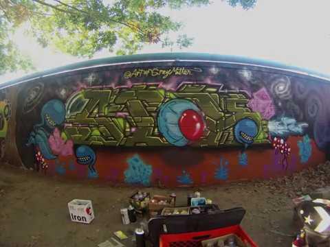 Grey Matter graffiti @ Sacramento Street Art Mural Jam
