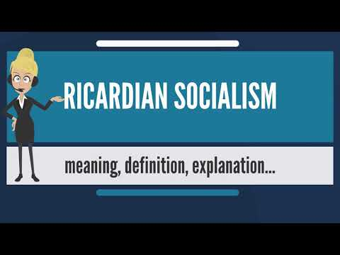 What is RICARDIAN SOCIALISM? What does RICARDIAN SOCIALISM mean? RICARDIAN SOCIALISM meaning