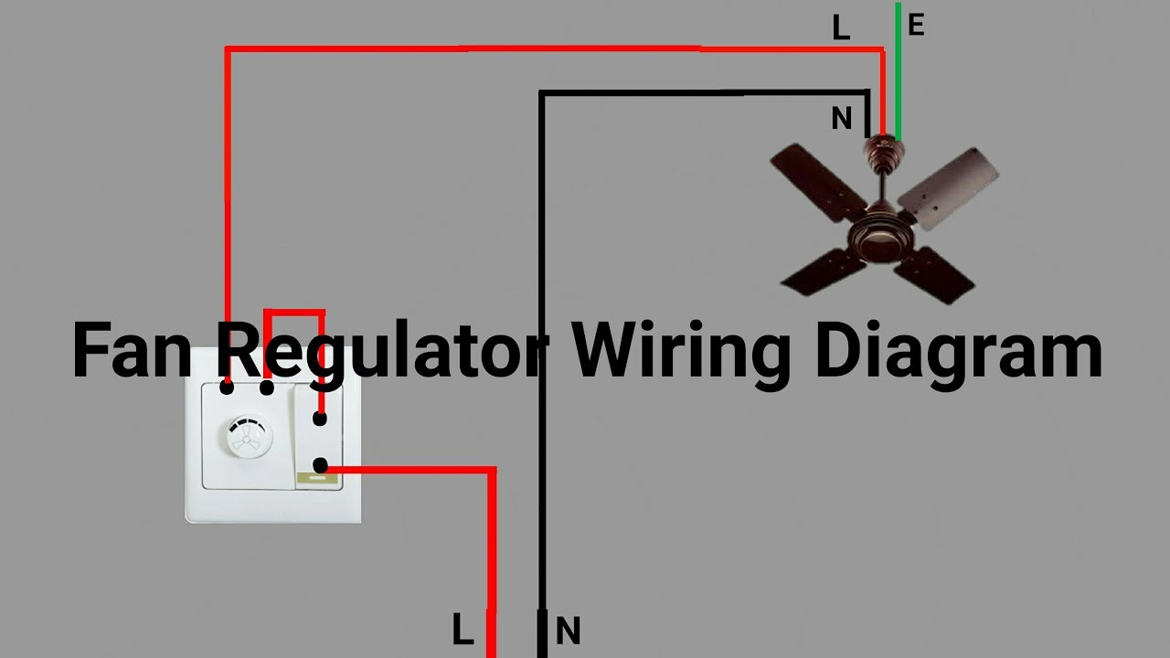 ceiling fan connection or light dimmer with regulator