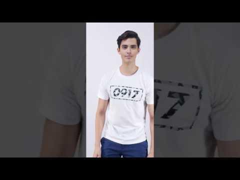 0917 Bar Geometric T-Shirt Men