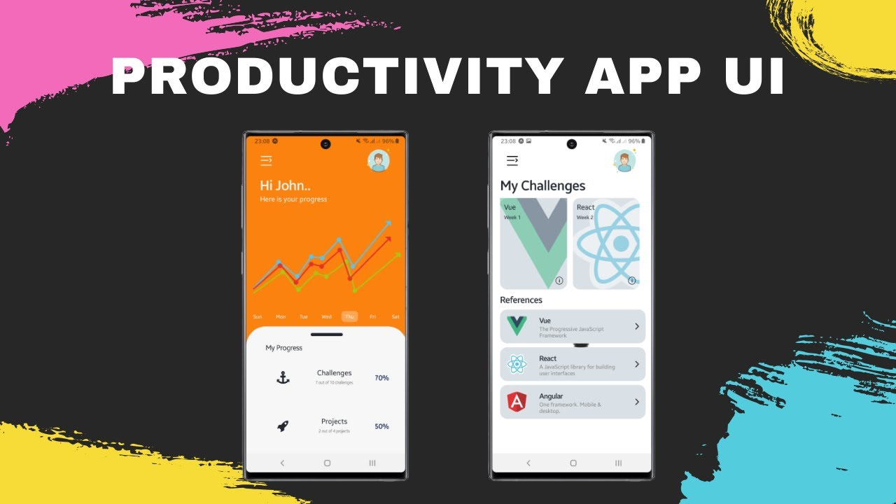 thumbnail Productivity App UI using React Native and Expo