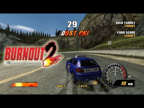 Dolphin Emulator 5.0-1850 | Burnout 2: Point Of Impact [1080p HD] | Nintendo GameCube