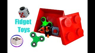 How To Build LEGO Fidget Toys | 4 Fidget Spinners and a Fidget Cube