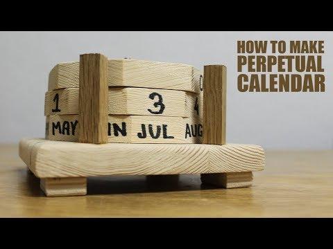 How to make Perpetual Calendar - DIY Wooden Calendar