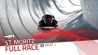 St. Moritz | BMW IBSF World Cup 2019/2020 - Women's Skeleton Heat 1 | IBSF Official