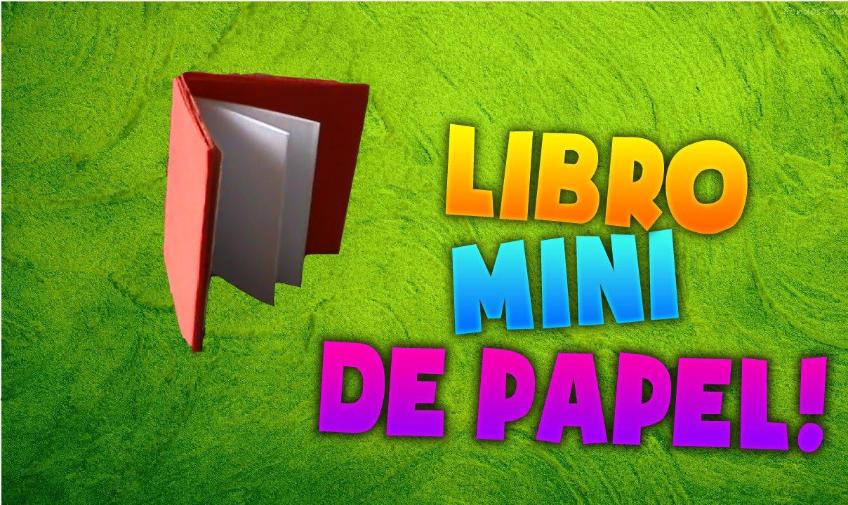 Como hacer un mini libro de papel - YouTube