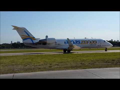 Amaszonas Uruguay CRJ-200 CX-SDU takeoff from SABE/AEP