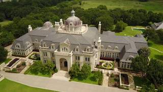 48,000 Square Foot Champ d'Or Estate French Style Mega Mansion in Denton, Texas (it's huge)