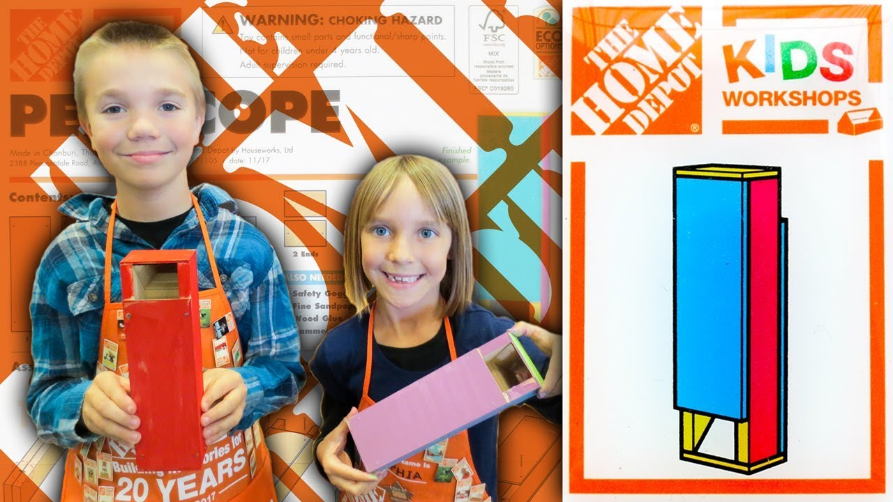 Home Depot Kids Workshop Build Periscope Family Vlog 3 3 2018 Youtube