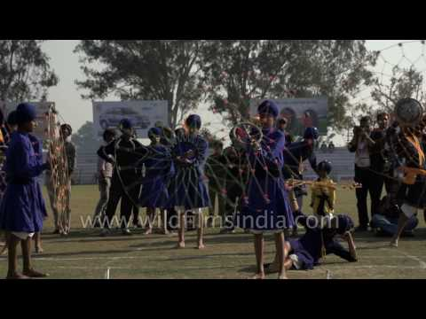 Amazing Gatka in slow motion, in Punjab